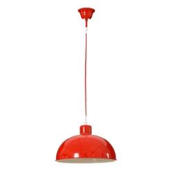 Lámpara de techo vintage roja de metal para cocina Fantasy