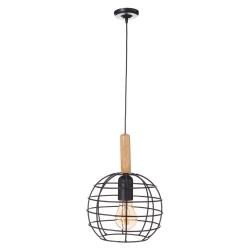 Lámpara de techo industrial negra de madera para cocina Factory