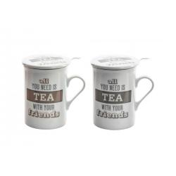 Tazas infusiones porcelana (Set de 2 tazas)