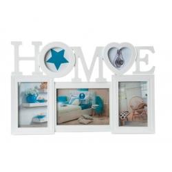 Portafotos multiple original de plastico marino HOME .