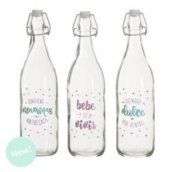 Botellas de agua con mensaje positiva ( Pack 3 botellas )