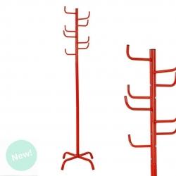 Perchero de pie rojo diseño cactus 175 cm .