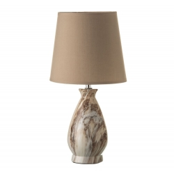 Lámpara de sobremesa rústica marrón de cerámica para salón Bretaña