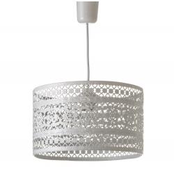 Lámpara de techo provenzal blanca de metal para la entrada France
