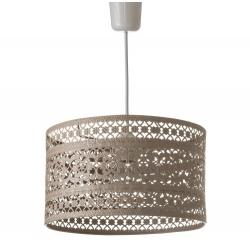 Lámpara de techo provenzal beige de metal para la entrada Bretaña