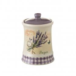 "Tarro azucarero ""lavanda"" stoneware 10,50 x 10,50 x 16,70 cm"