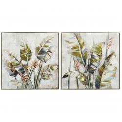 Cuadros impresión arboles verde 63x63 cm - pack 2 cuadro .