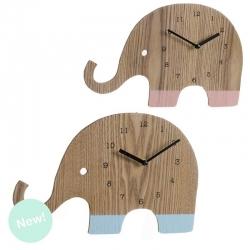 """Reloj de pared madera infantil """" Elefante """""""