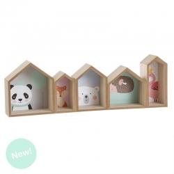Estante de madera diseño Infantil animales .