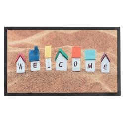 Felpudo multicolor Welcome 75x45 cm .