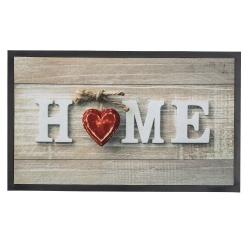 Felpudo multicolor Home Corazon 75x45 cm