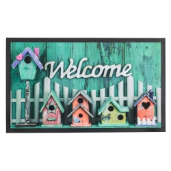 Felpudo multicolor Welcome To The Home 75x45 cm .