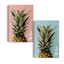 Libretas A5 piña aloha - Pack 2 ud.