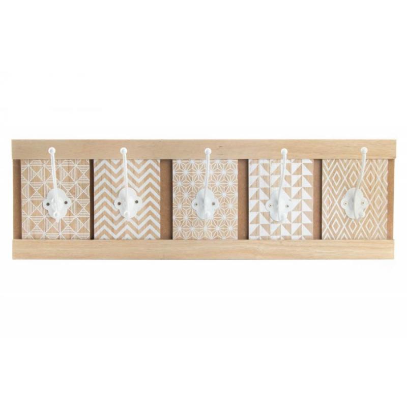 Perchero pared madera original boho 59x18x8 cm - Perchero original pared ...