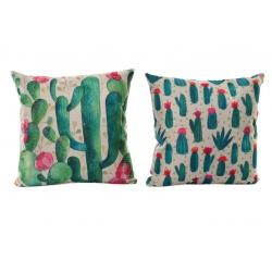 Cojínes modernos cactus verde 45x45 cm