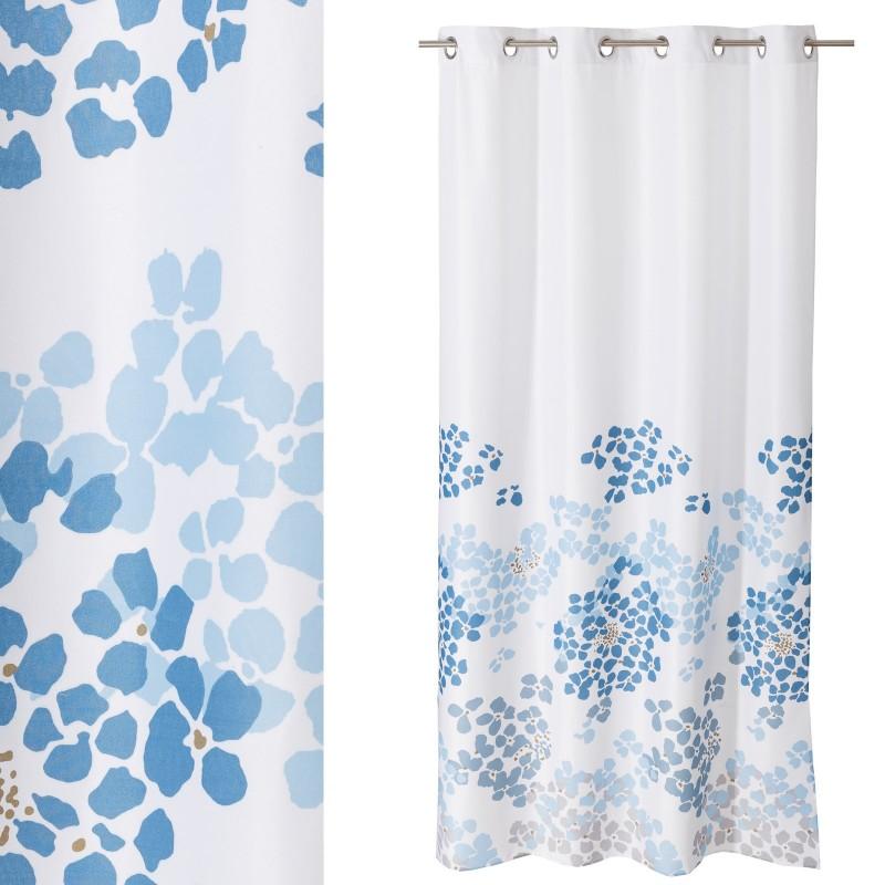 "Cortinas De Baño Azul:Textil > Cortinas > Cortina anillas ""mykonos"" blanco-azul 140 x 260"