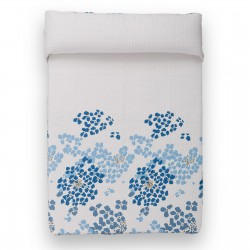 "Colcha de cama ''bouti'' ""mykonos"" blanco-azul 260 x 240 cm"