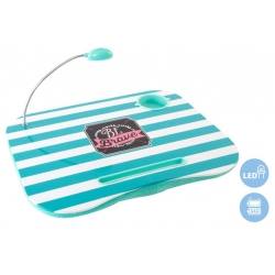 Bandeja para portatil con luz de led decorada