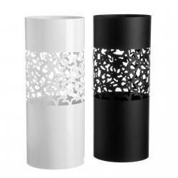 Paragüero metal moderno negro y blanco. 19,50 x 19,50 x 49 cm