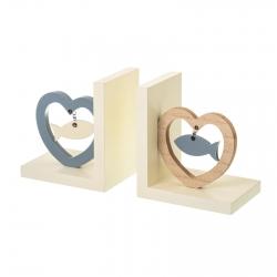Sujetalibro madera romantica 25x14x9 cm