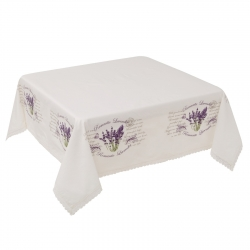 Mantel mesa provenzal lila lavanda148x148 cm