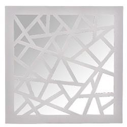 Espejo de pared decoración plastico blanco 40 x 40 cm