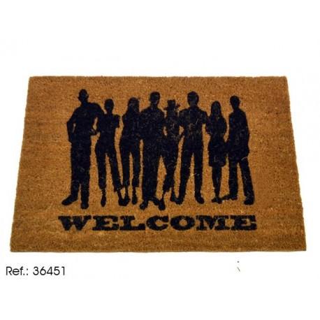 Felpudo original de welcome men , 40 x 60 cm.
