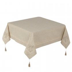 "Mantel mesa romantica ""delicious"" beige 150 x 150 cm"