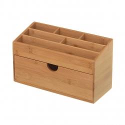 Organizador de cajón nórdico marrón de bambú para cocina Basic
