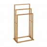 Toallero múltiple nórdico marrón de bambú para cuarto de baño Basic