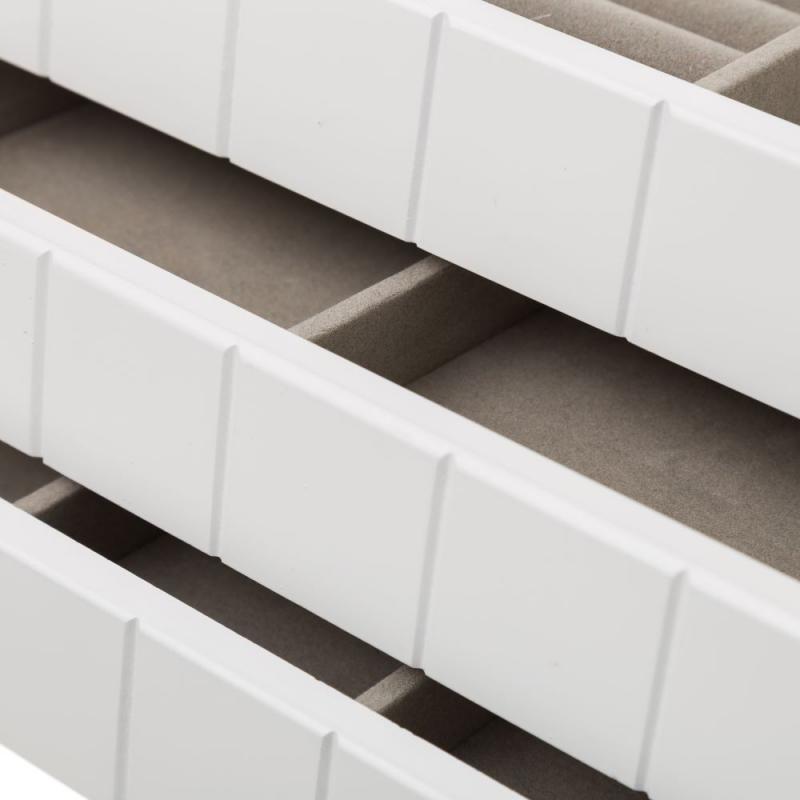 a7c334a693d2 Caja con joyero moderna blanca de madera para dormitorio Fantasy