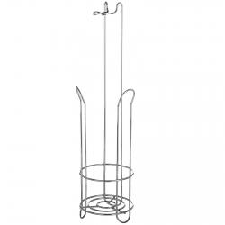 Portarrollos de baño clásico plateado de metal para cuarto de baño Basic