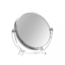 Espejo de 5 aumentos clásico transparente de poliestireno para baño Basic