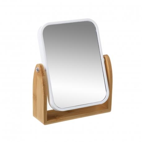 Espejo doble 2.5 aumentos bambú nordico