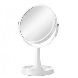 Espejo doble 2 aumentos blanco para baño fantasy
