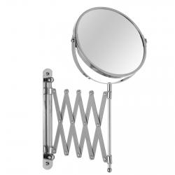 Espejo doble 2 aumentos clásico plateado de metal para baño Basic