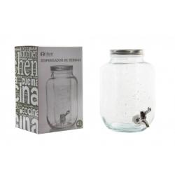 Dispensador de bebidas cristal con grifo para 4 litros .