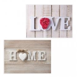 Pack 2 cuadro fotoimpresión Love & Home lienzo 70x50 cm