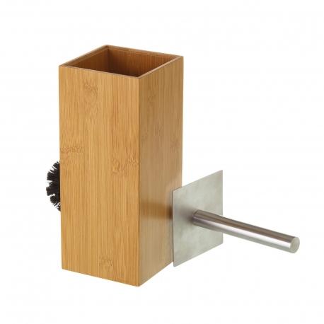 Escobilla de baño nórdica marrón de bambú para cuarto de baño Sol Naciente