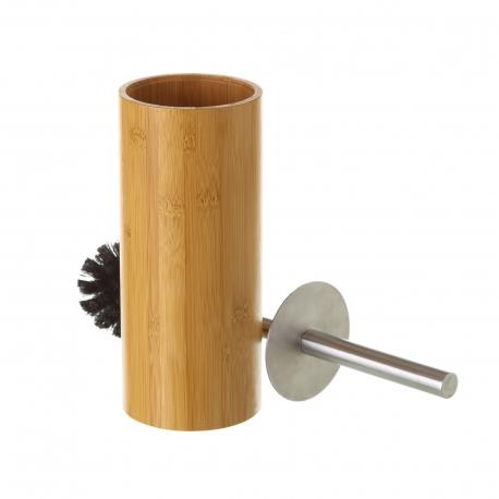 Escobilla de baño nórdica marrón de bambú para cuarto de baño Basic