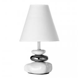 Lámpara para mesita de noche oriental blanca de cerámica para dormitorio Fantasy
