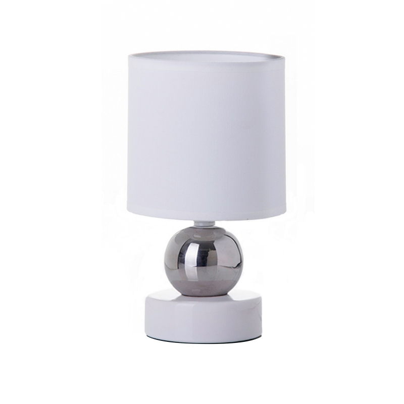 L mpara de mesita de noche moderna blanca de cer mica para dormitorio fantasy - Lamparas mesita de noche ...