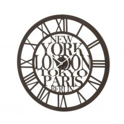 Reloj de pared industrial negro de hierro para salón Factory
