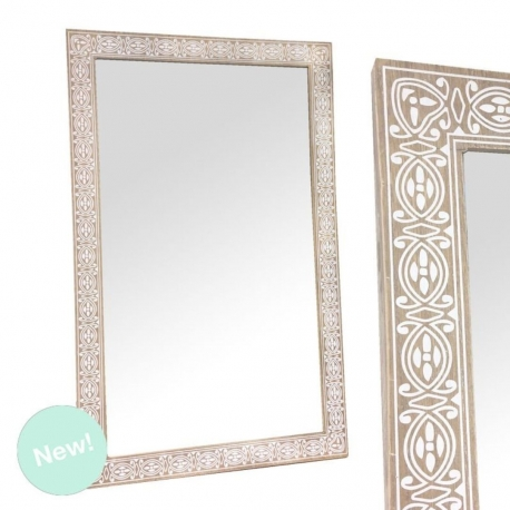 Espejo de pared madera 50x80 cm