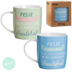 """Tazas """"Feliz Cumpleaños"""" (Set de 2 tazas)"""