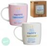 "Tazas ""HAPPY BIRTHDAY"" (Set de 2 tazas)"