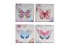 Pack 4 Cuadro mariposa provenzal decoración France