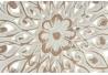 Mural tallada blanco rozado mango étnico redondo 45 cm