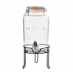 Dispensador de bebidas cristal con grifo para 5 litros .