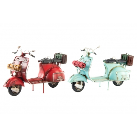 Set 2 motos decoracion metal vintage retro .